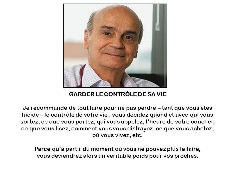 GARDER LE CONTRÔLE DE SA VIE