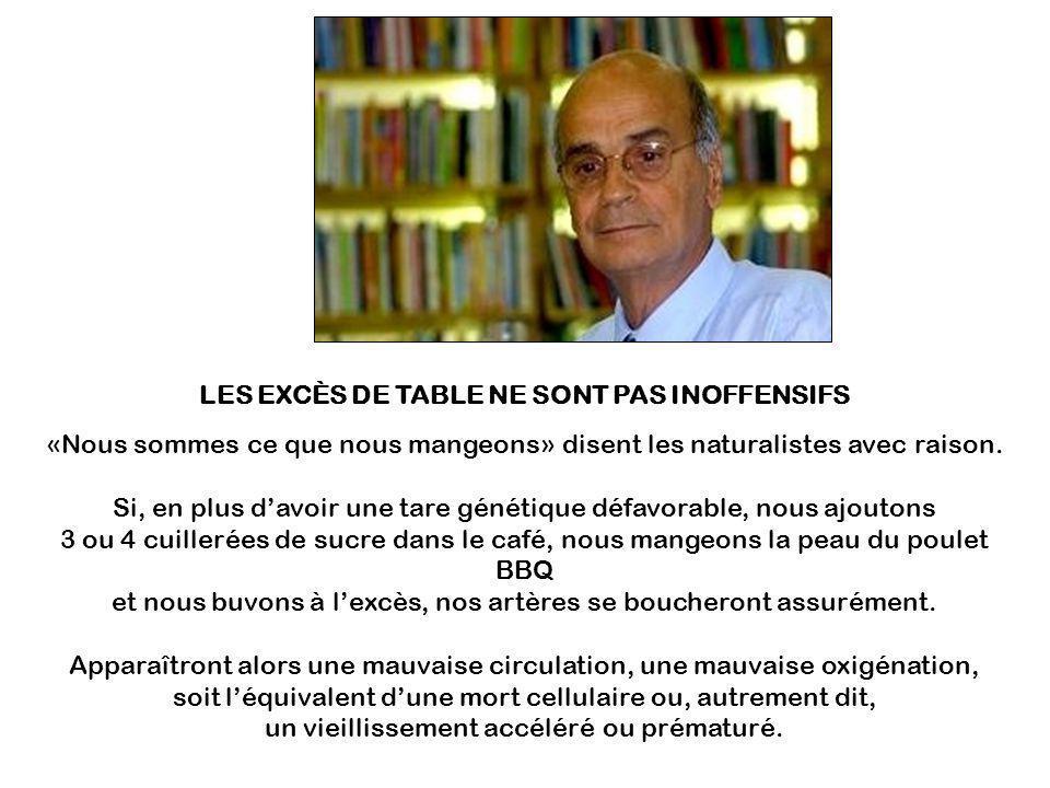 LES EXCÈS DE TABLE NE SONT PAS INOFFENSIFS