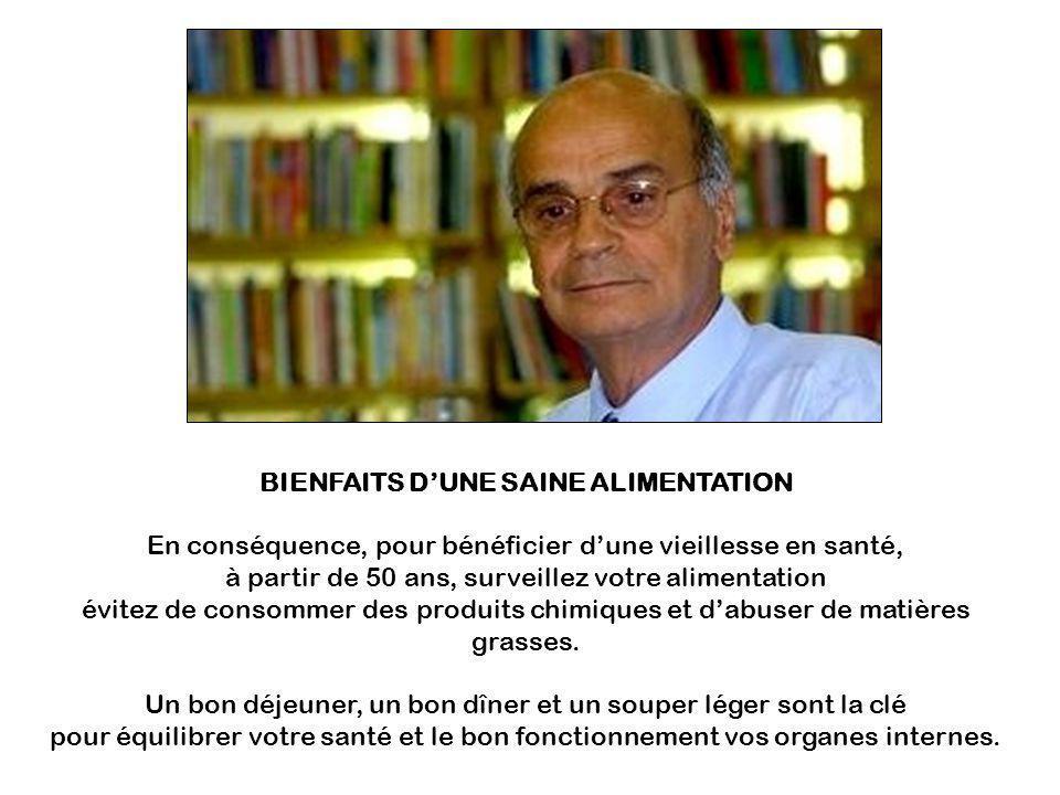BIENFAITS D'UNE SAINE ALIMENTATION