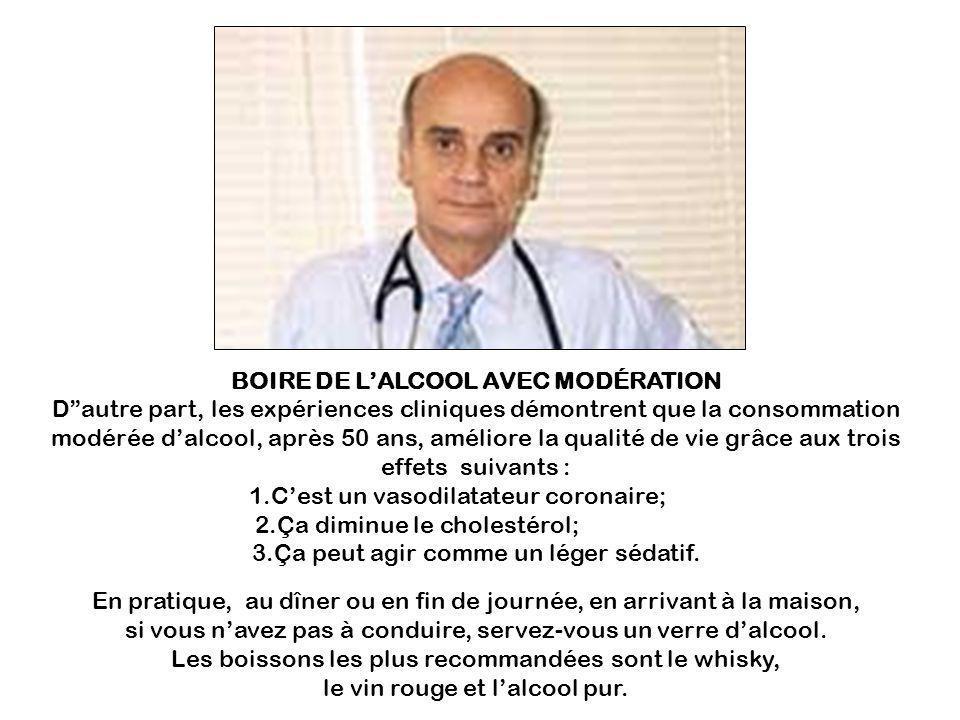 BOIRE DE L'ALCOOL AVEC MODÉRATION