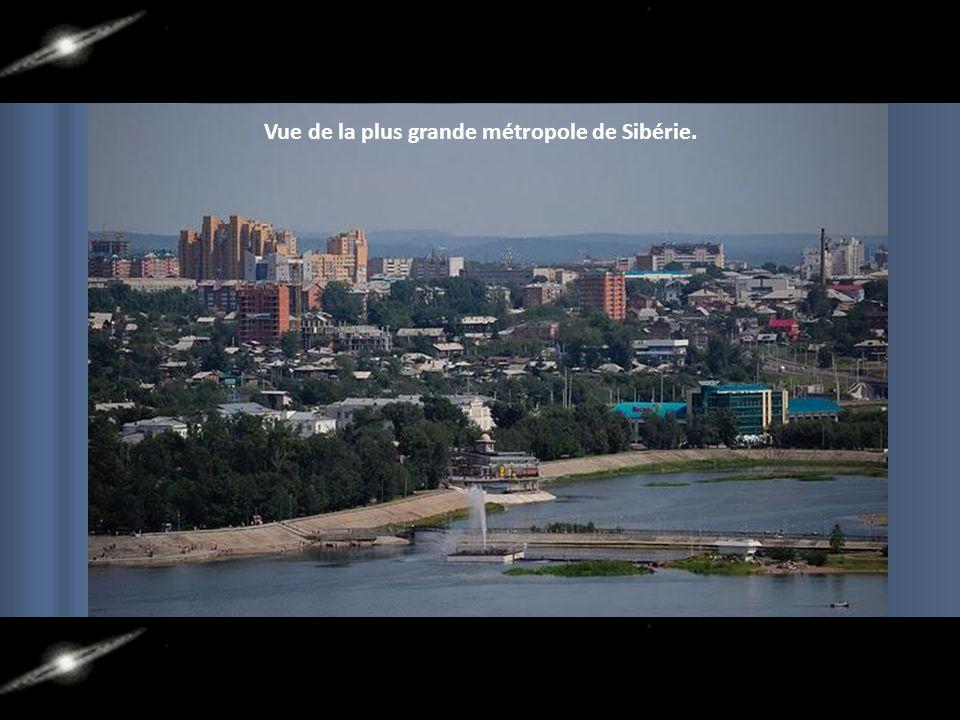 Vue de la plus grande métropole de Sibérie.