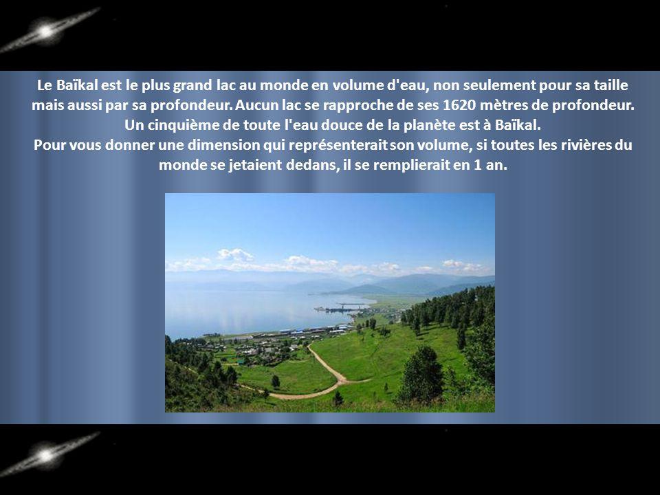 Un cinquième de toute l eau douce de la planète est à Baïkal.