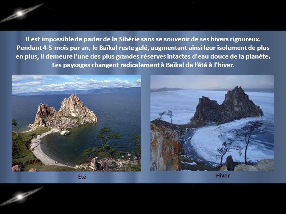 Les paysages changent radicalement à Baïkal de l'été à l hiver.