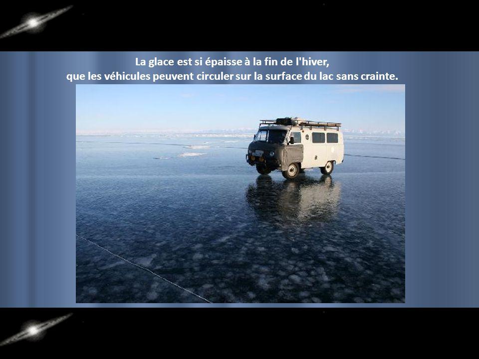 La glace est si épaisse à la fin de l hiver,