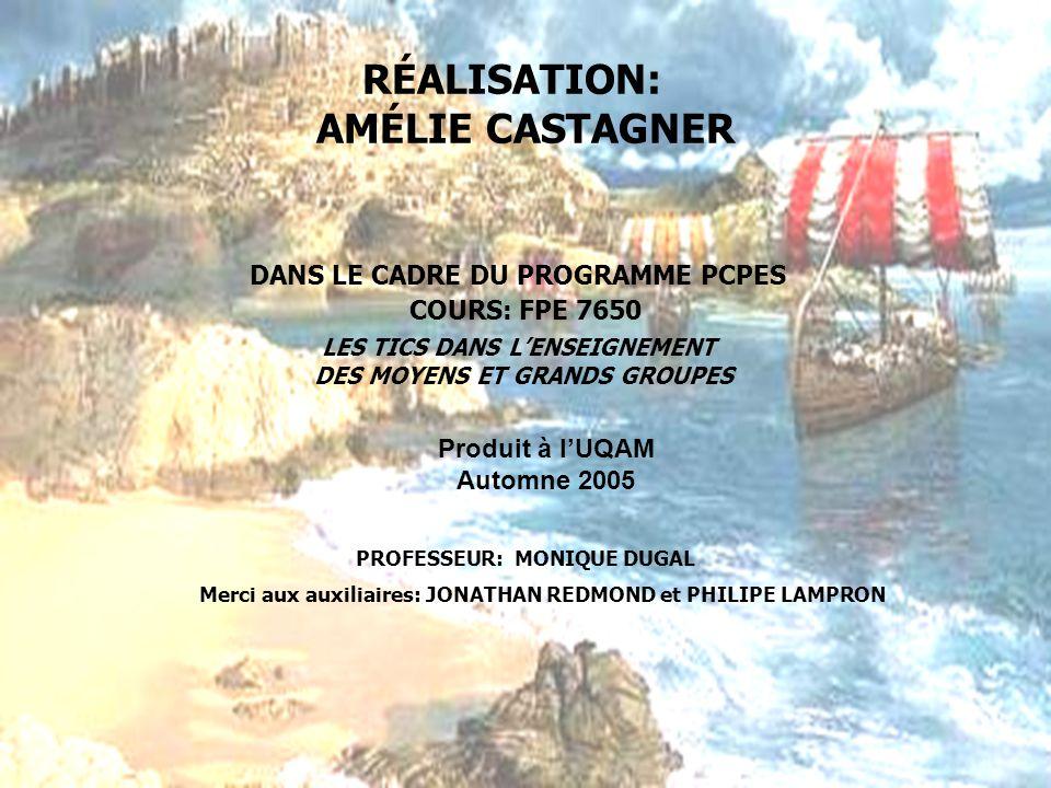 RÉALISATION: AMÉLIE CASTAGNER