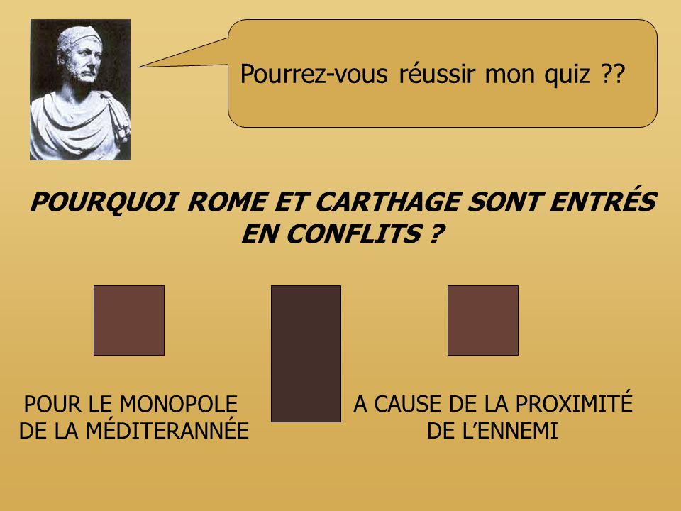 POURQUOI ROME ET CARTHAGE SONT ENTRÉS EN CONFLITS