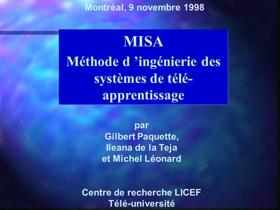 MISA Méthode d 'ingénierie des systèmes de télé-apprentissage