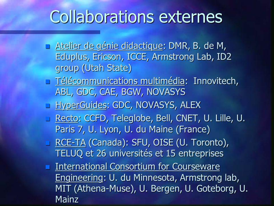 Collaborations externes