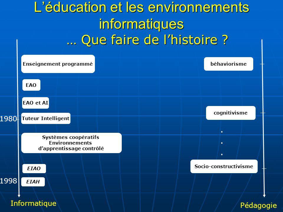 L'éducation et les environnements informatiques