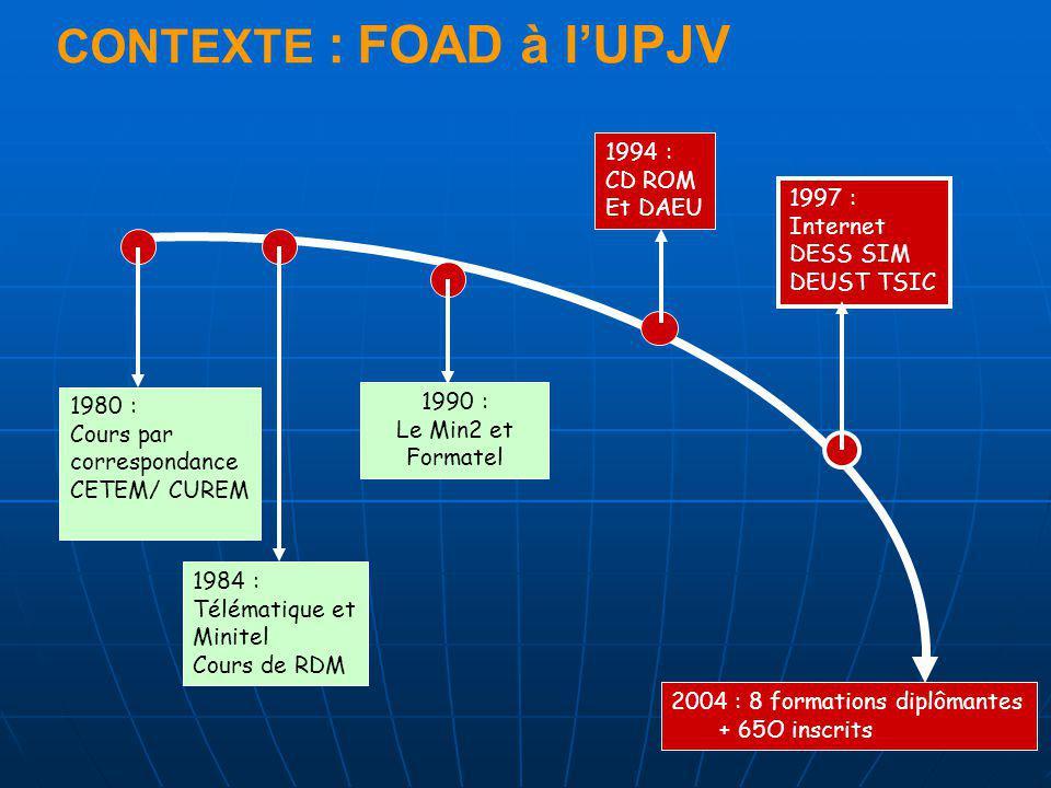 CONTEXTE : FOAD à l'UPJV