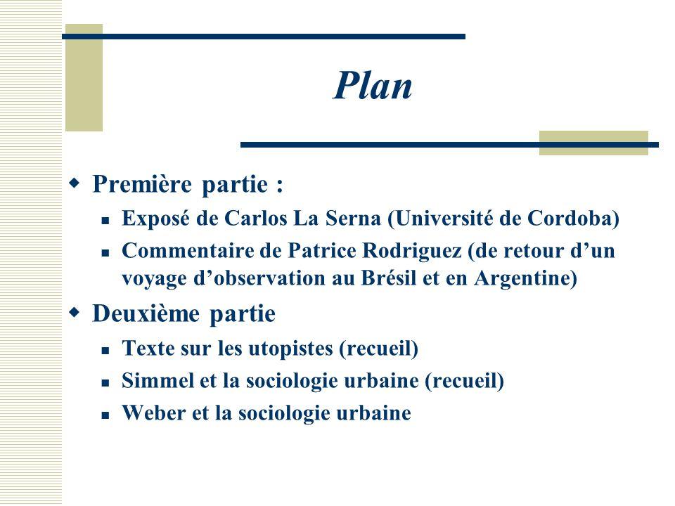 Plan Première partie : Deuxième partie