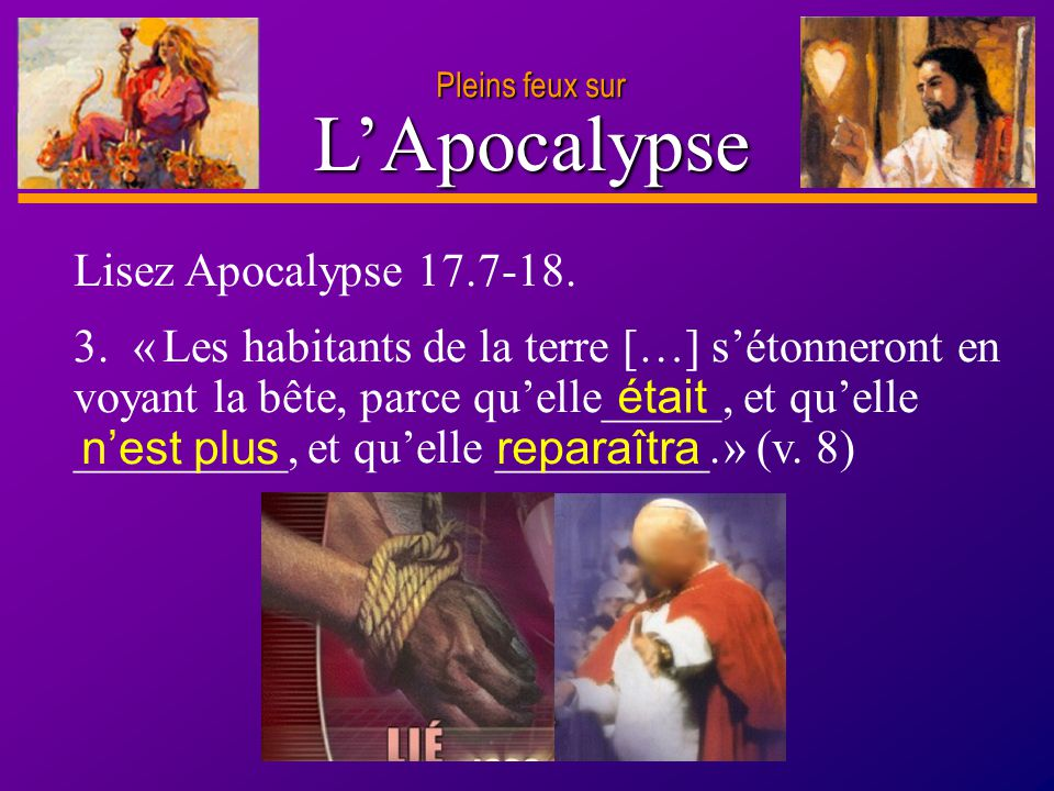 L'Apocalypse Lisez Apocalypse 17.7-18.