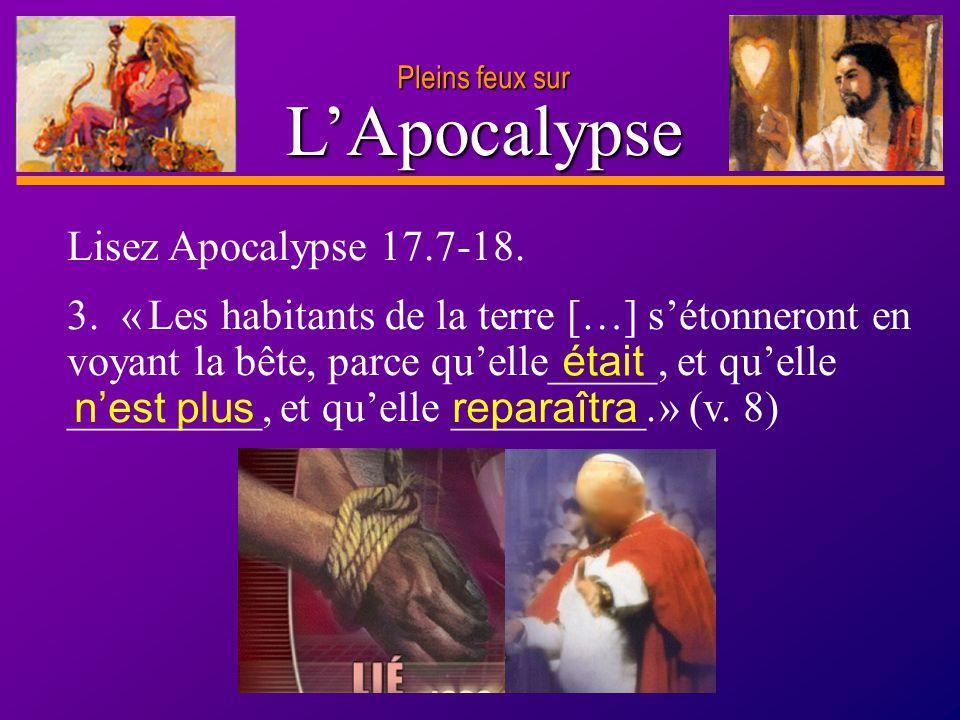 L'Apocalypse Lisez Apocalypse 17.7-18.
