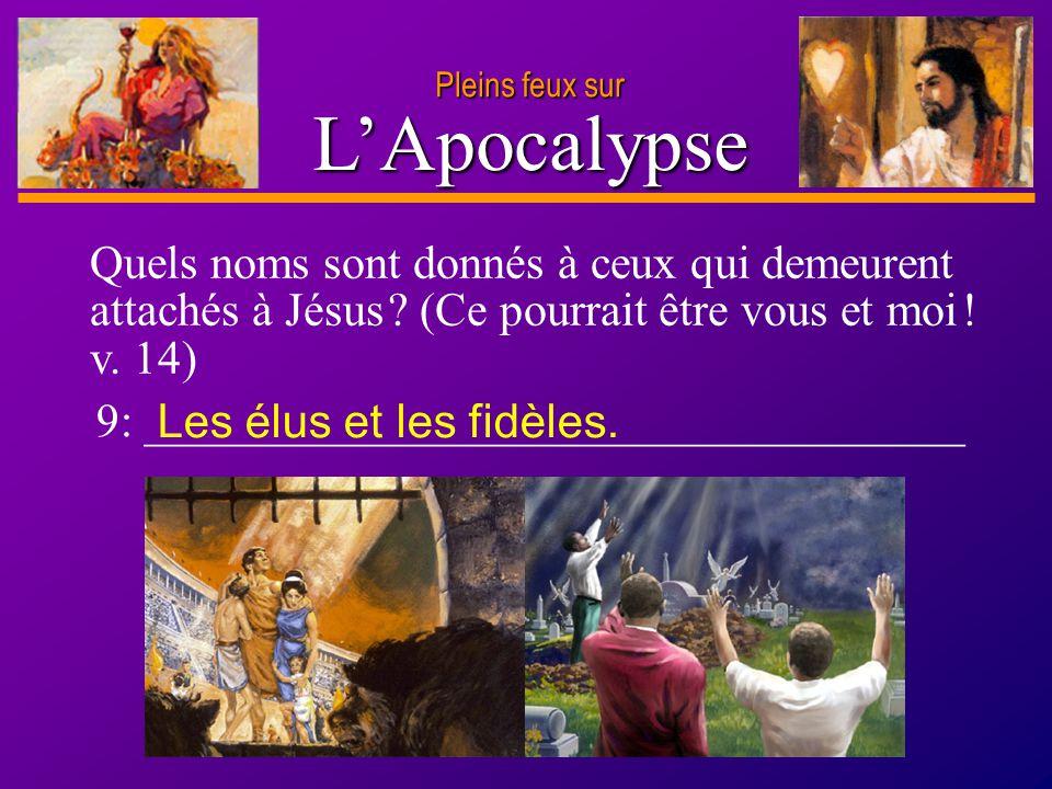 Pleins feux sur L'Apocalypse. 9: ___________________________________.