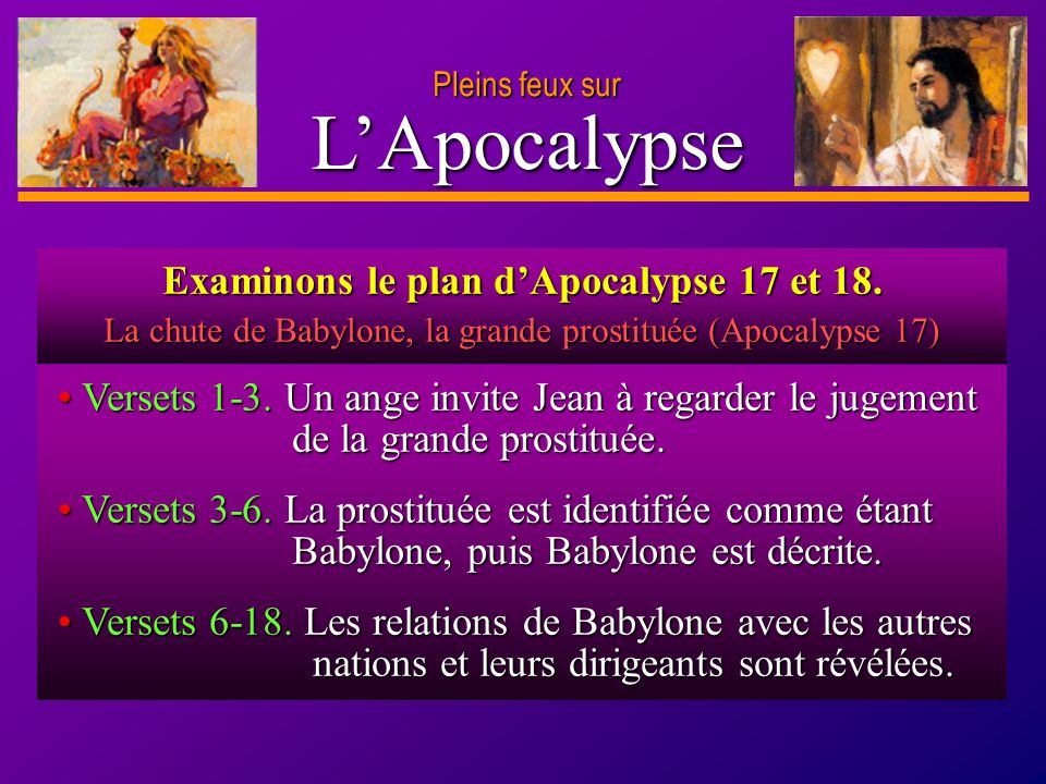 Examinons le plan d'Apocalypse 17 et 18.