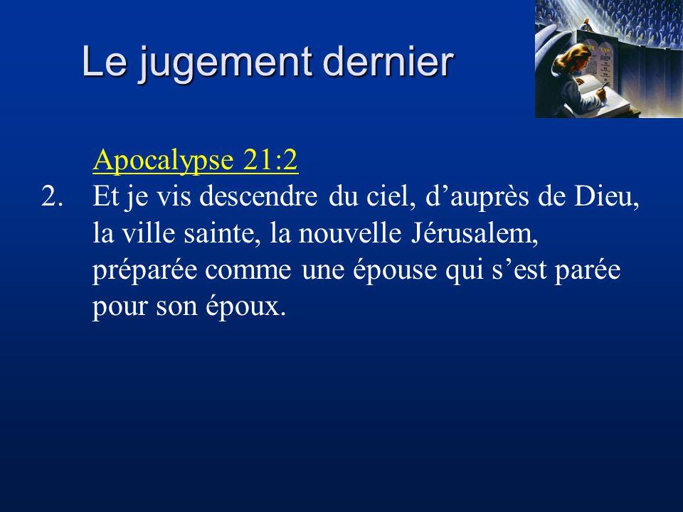 Le jugement dernier Apocalypse 21:2