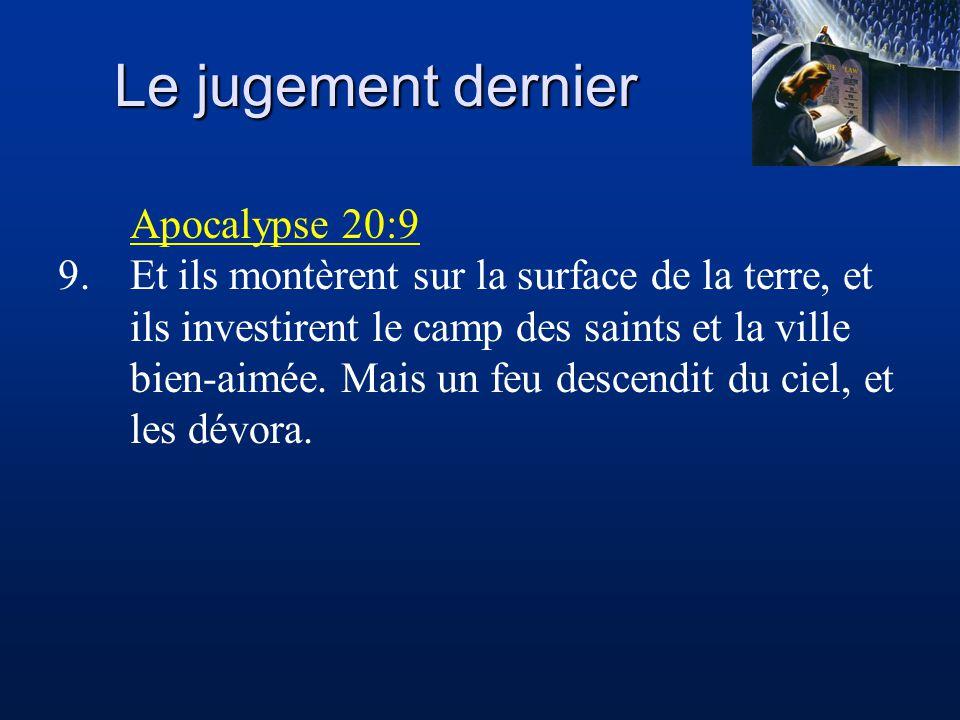 Le jugement dernier Apocalypse 20:9