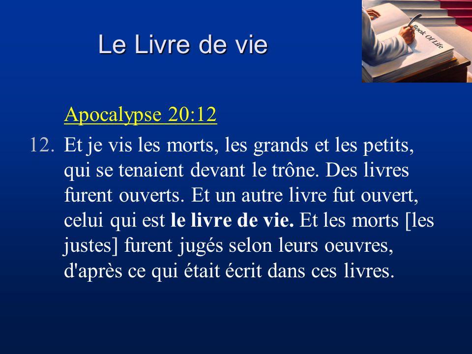 Le Livre de vie Apocalypse 20:12