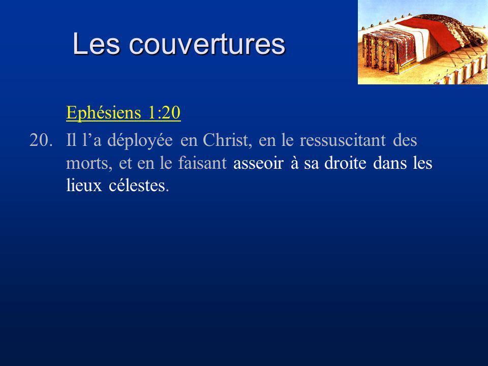 Les couvertures Ephésiens 1:20