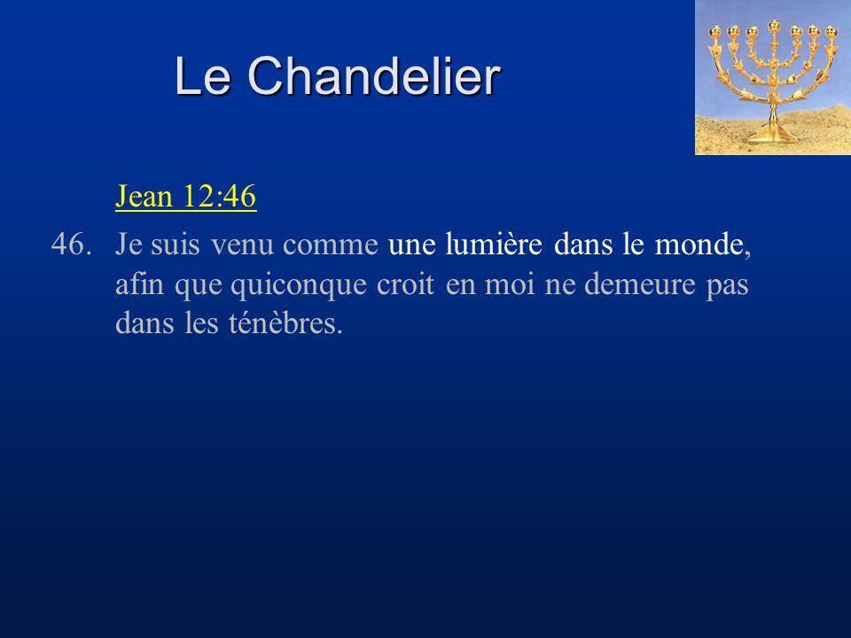 Le Chandelier Jean 12:46.