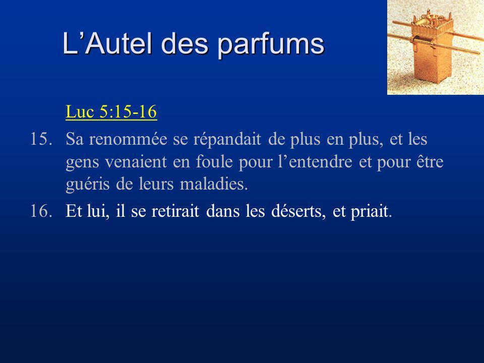L'Autel des parfums Luc 5:15-16