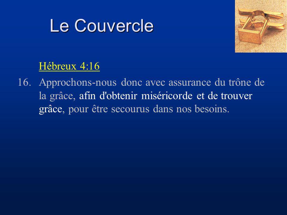 Le Couvercle Hébreux 4:16.