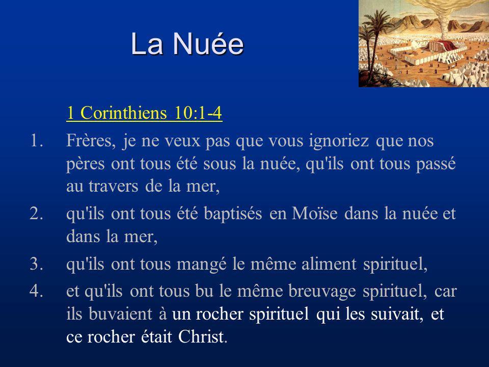 La Nuée 1 Corinthiens 10:1-4.