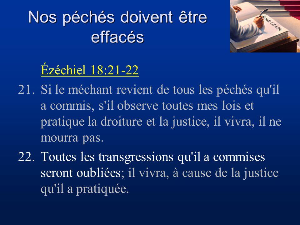 Nos péchés doivent être effacés