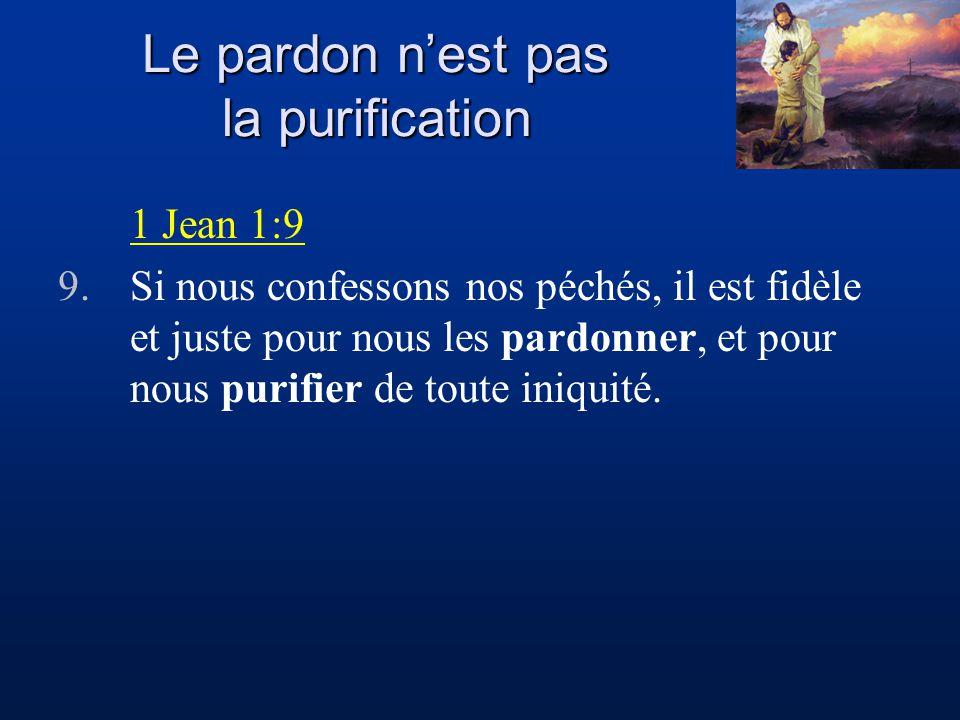 Le pardon n'est pas la purification