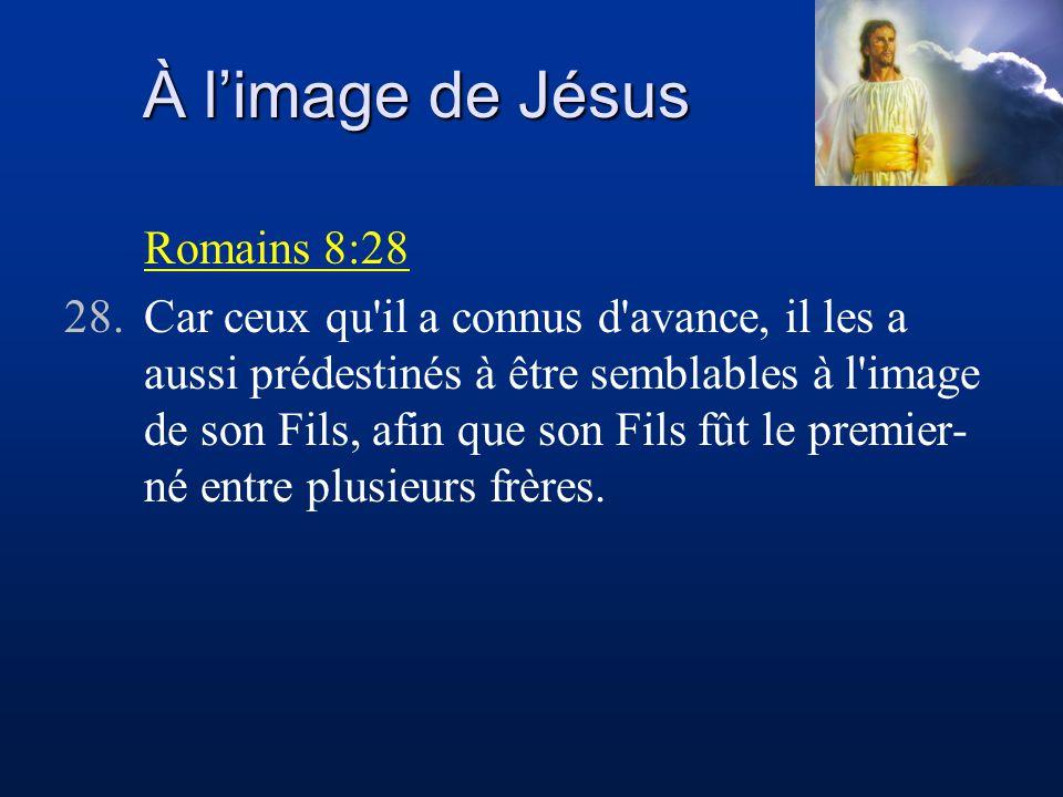À l'image de Jésus Romains 8:28