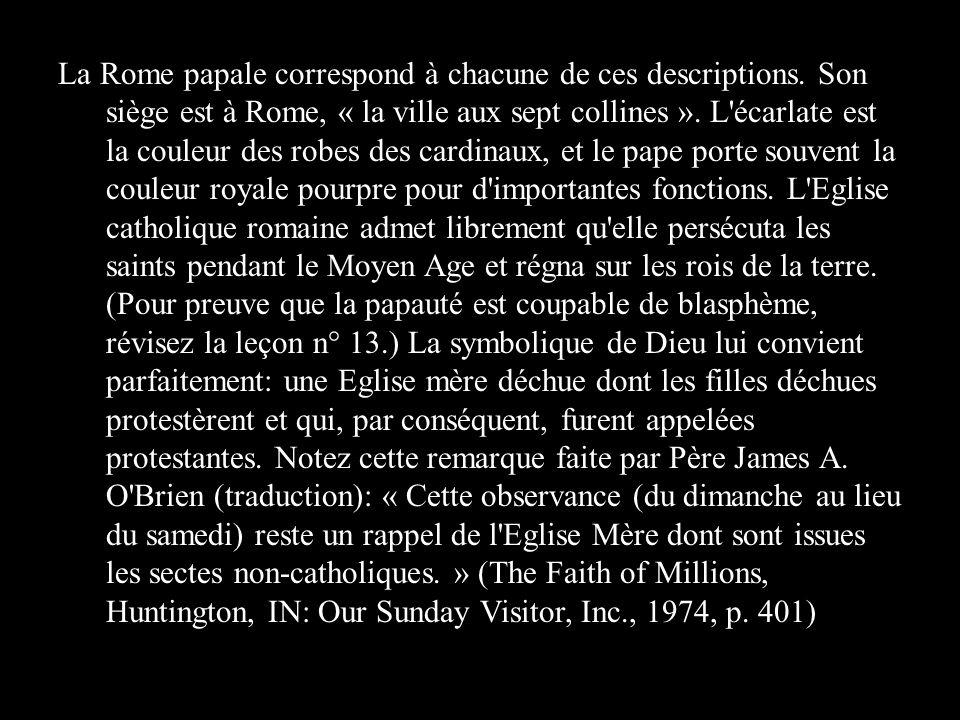 La Rome papale correspond à chacune de ces descriptions