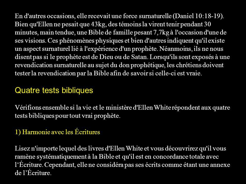 Quatre tests bibliques