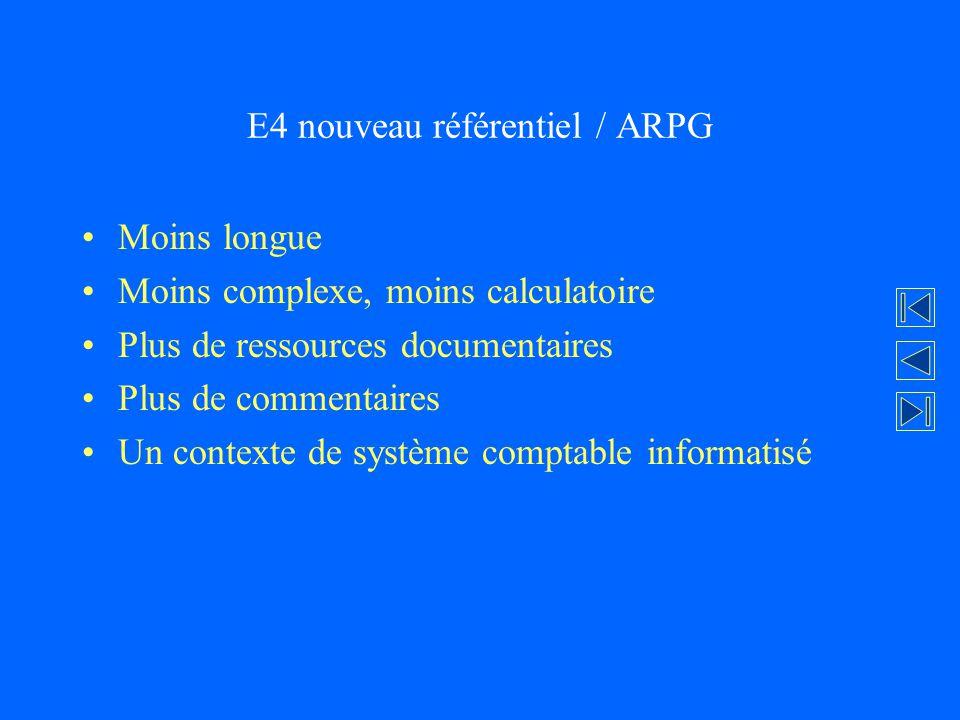 E4 nouveau référentiel / ARPG