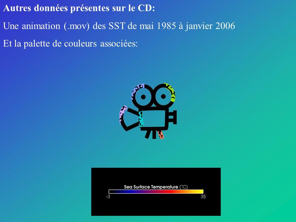 Autres données présentes sur le CD: