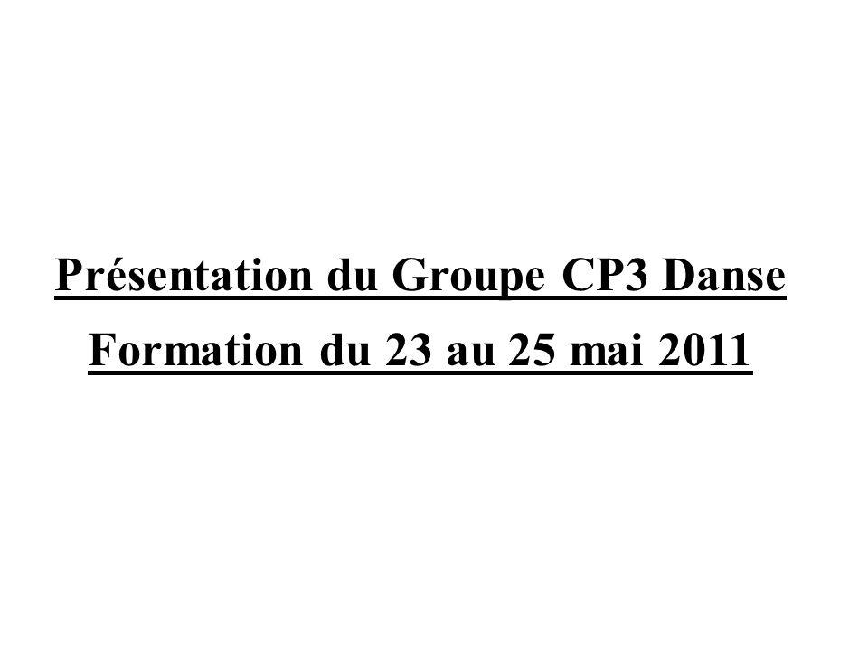 Présentation du Groupe CP3 Danse