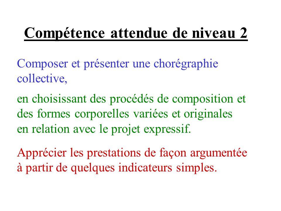 Compétence attendue de niveau 2