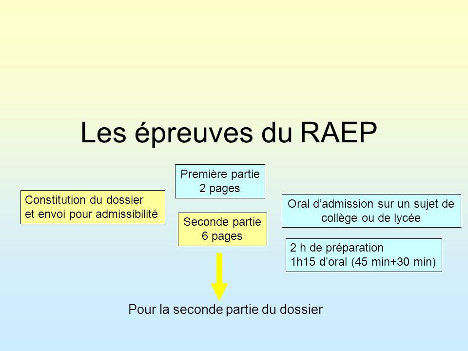 Oral d'admission sur un sujet de collège ou de lycée