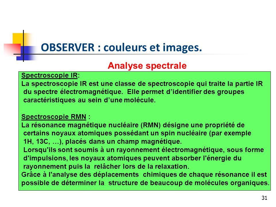OBSERVER : couleurs et images.