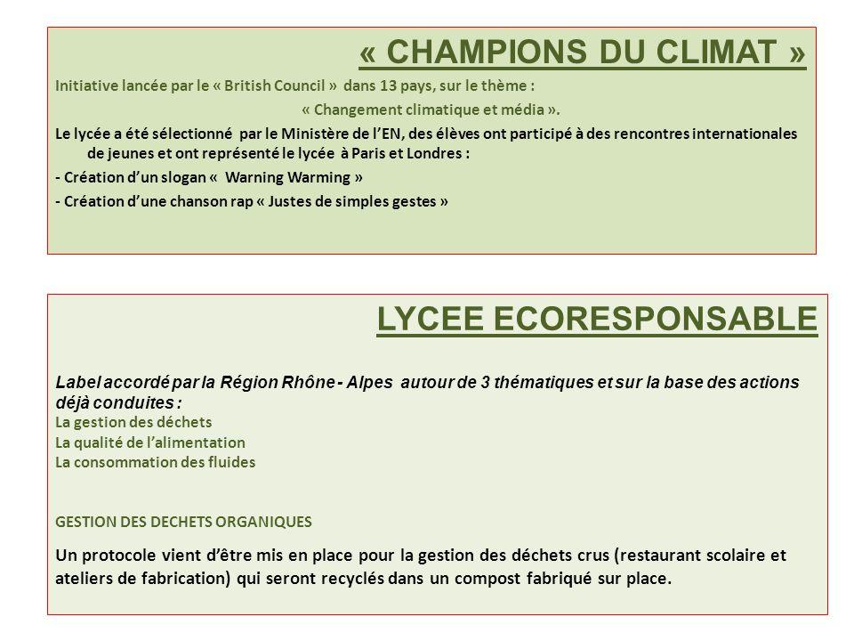 « Changement climatique et média ».