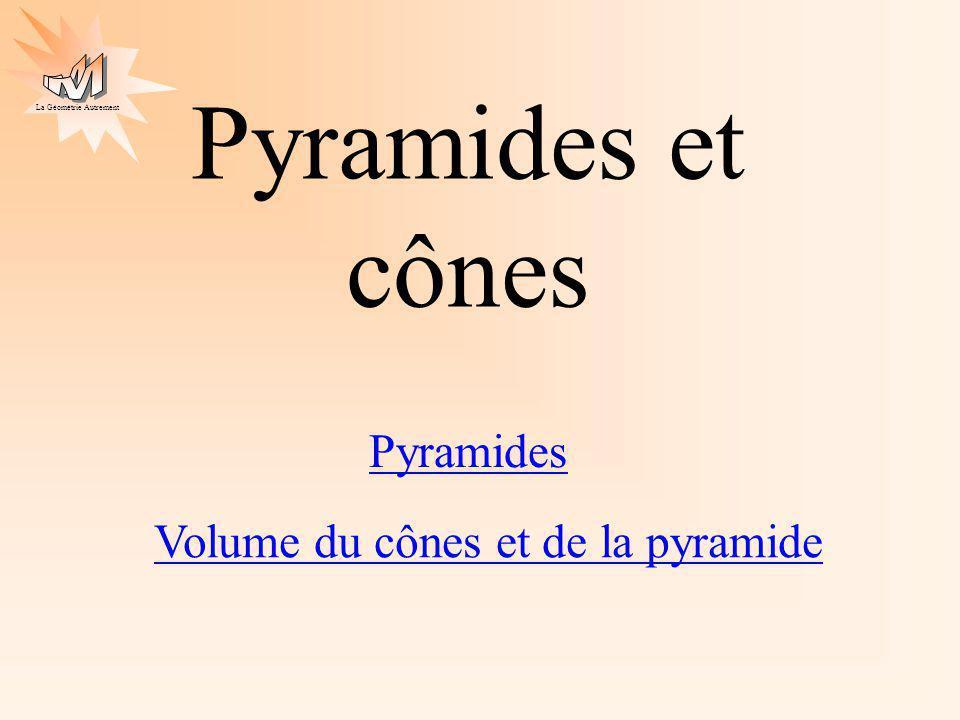 Pyramides et cônes Pyramides Volume du cônes et de la pyramide