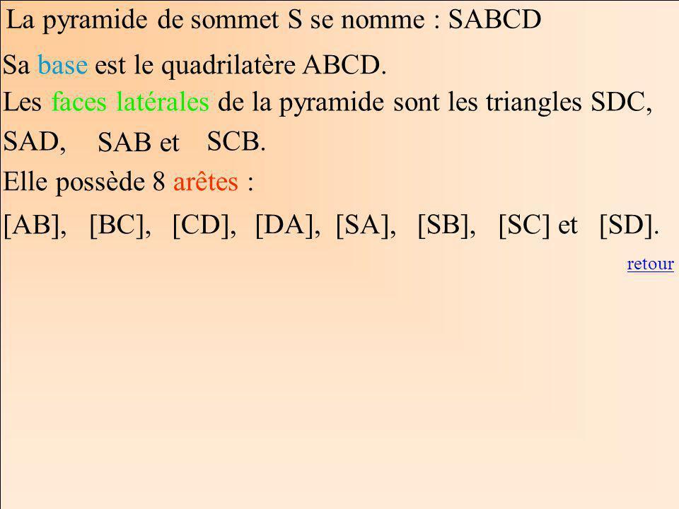 Sa base est le quadrilatère ABCD.