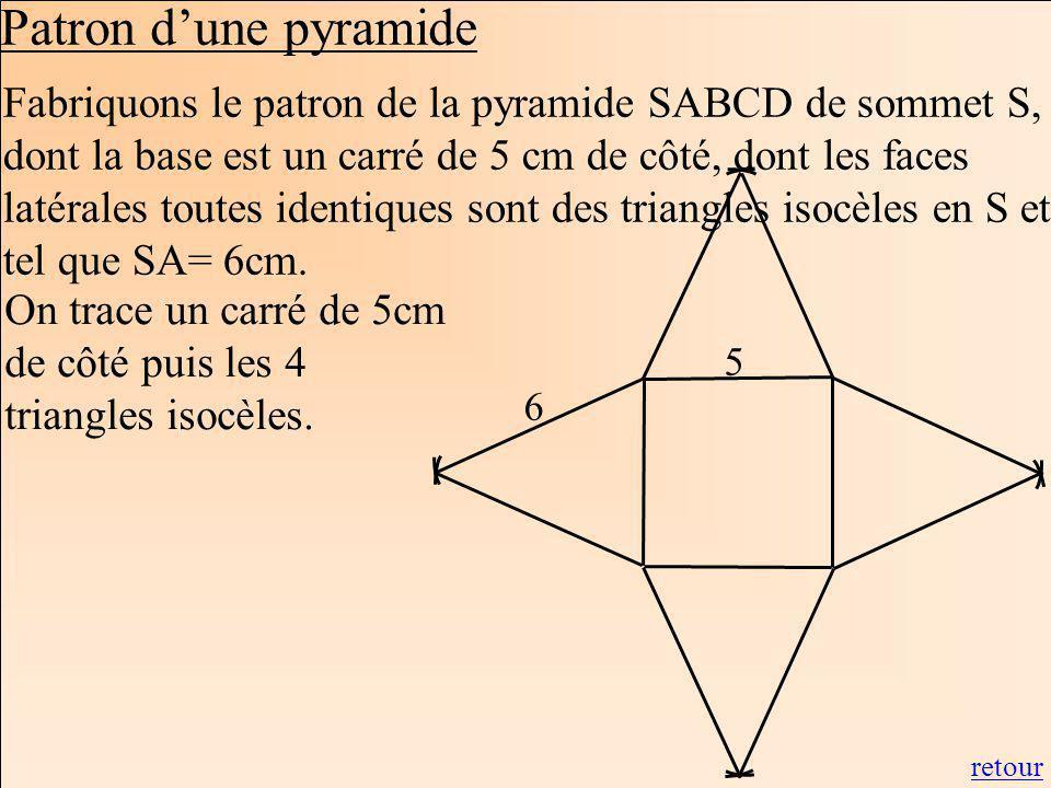 Patron d'une pyramide