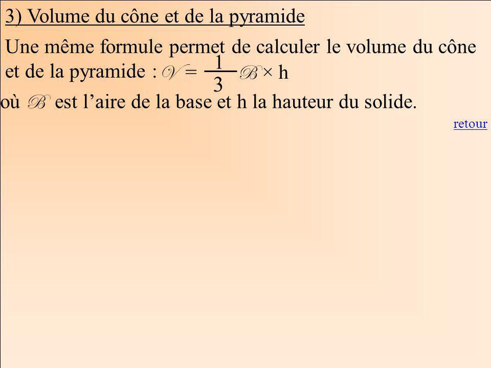 3 3) Volume du cône et de la pyramide