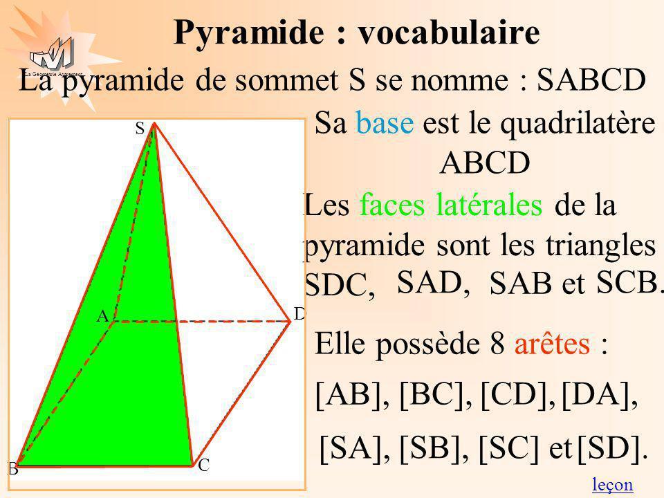 Sa base est le quadrilatère ABCD