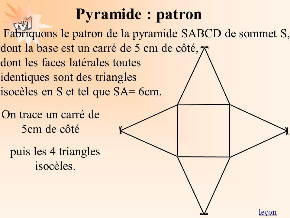 Pyramide : patron
