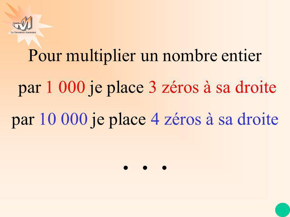 . . . Pour multiplier un nombre entier