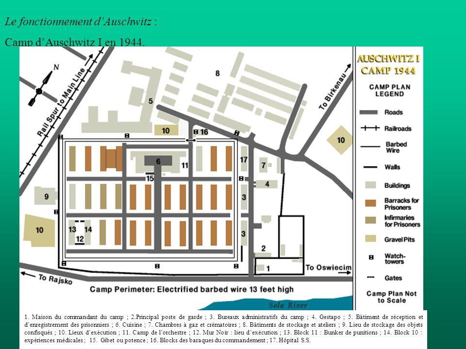 Le fonctionnement d'Auschwitz : Camp d'Auschwitz I en 1944.