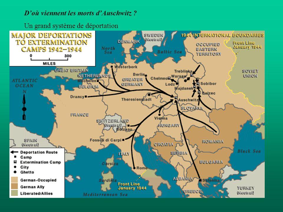 D'où viennent les morts d'Auschwitz