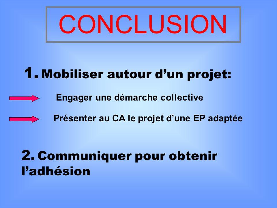 CONCLUSION 1. Mobiliser autour d'un projet: