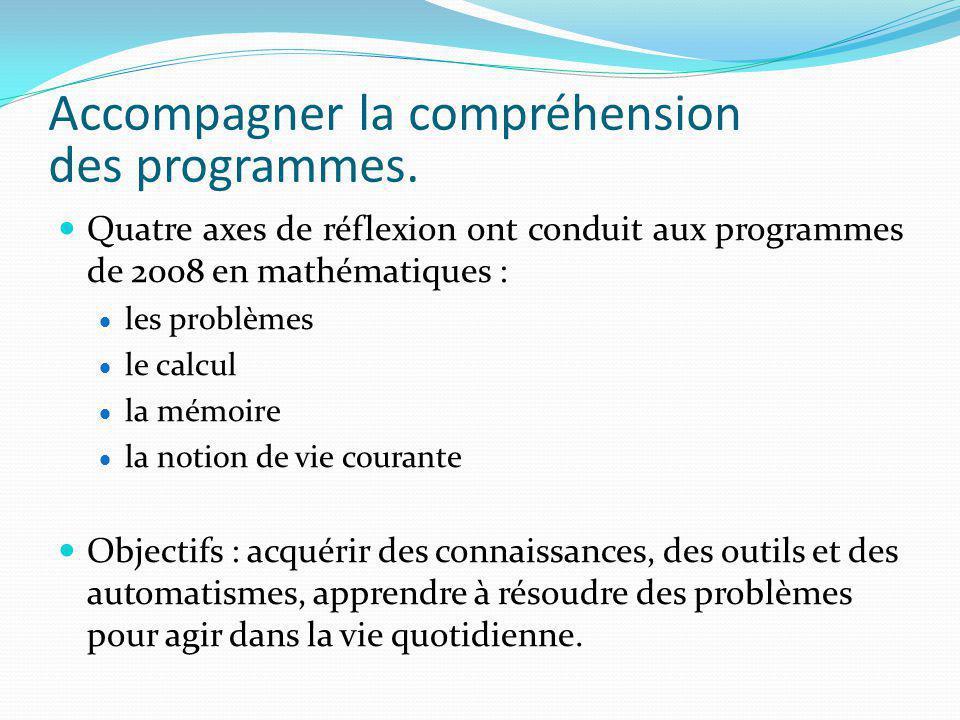 Accompagner la compréhension des programmes.